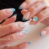 #レースフラワー #フラワーネイル #ビジューネイル   #swarovskicrystals #bijou #flowersnails #frenchnails #blue #nail #nails #nailsalon #instanails #nailswag #nailstagram #nailart #naildesign #gelnails #manicurist #ネイル #ネイルデザイン #大人ネイル #ジェルネイル #ネイルサロン #八潮市 #八潮ネイル #八潮ネイルサロン #自宅サロン #kicco_k #春 #オールシーズン #オフィス #ブライダル #ハンド #フレンチ #ビジュー #フラワー #ミディアム #ホワイト #ターコイズ #ジェル #kicco_k.nail #ネイルブック