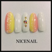 やり放題コース¥6500 #春 #夏 #ホワイト #ピンク #イエロー #NICENAIL_FUJISAWA #ネイルブック