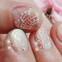 レース♪ #crystalnail08 #ネイルブック