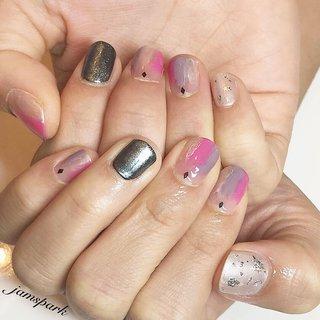 #manicure #mirrornails #silver #shortnails #pink #purple #マニキュア #ミラーネイル #シルバー #ショートネイル #ピンク #パープル #銀箔 #鵠沼海岸 #藤沢 #ホームサロン #お子様連れ歓迎 #ペット同伴可 #オールシーズン #リゾート #ライブ #パーティー #ハンド #変形フレンチ #ワンカラー #ホイル #ミラー #ギャラクシー #ショート #ピンク #パープル #メタリック #マニキュア #お客様 #jamspark #ネイルブック