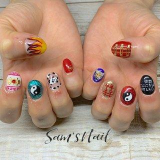 チャイニーズネイル🐼 . . 🌵Sam's Nail🌵 オンライン予約 ネイルブックより受付中 LINE【sam.s_nail】 . . #nail#nailart#gelnail#genic_nail#Bohemian#Bohemiannail#bohonail#instanails#handpainted#豊橋ネイル#豊橋ネイルサロン#豊橋サムズネイル#豊橋#定額サロン#定額ネイル#ネイル#ネイルデザイン#田原#豊川#蒲郡#ネイル好きな人と繋がりたい#ストーンジュエリー#こだわりサロン#天然石ネイル#手描きサロン#大理石ネイル#地層ネイル#美爪ネイル#美爪フォルム#チャイニーズネイル#チャイニーズ #オールシーズン #ライブ #女子会 #ハンド #アニマル柄 #痛ネイル #キャラクター #ニュアンス #国旗 #ショート #レッド #ターコイズ #カラフル #ジェル #お客様 #Sam'sNail #ネイルブック