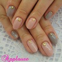 グレーネイル×ピンク♪ 春夏秋冬いつでも使いやすいお色です(*^^*) #hiro14 #ネイルブック