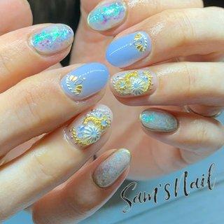 定額デザイン✨ . 🌵Sam's Nail🌵 GWは休まず通常営業致します🌼 オンライン予約 ネイルブックより受付中 LINE【sam.s_nail】 . . #nail#nailart#gelnail#genic_nail#Bohemian#Bohemiannail#bohonail#instanails#handpainted#豊橋ネイル#豊橋ネイルサロン#豊橋サムズネイル#豊橋#定額サロン#定額ネイル#ネイル#ネイルデザイン#田原#豊川#蒲郡#ネイル好きな人と繋がりたい#ストーンジュエリー#こだわりサロン#天然石ネイル#手描きサロン#大理石ネイル#地層ネイル#美爪ネイル#美爪フォルム #オールシーズン #旅行 #リゾート #女子会 #ハンド #ビジュー #アンティーク #ボヘミアン #ニュアンス #オーロラ #ミディアム #ベージュ #水色 #ジェル #お客様 #Sam'sNail #ネイルブック