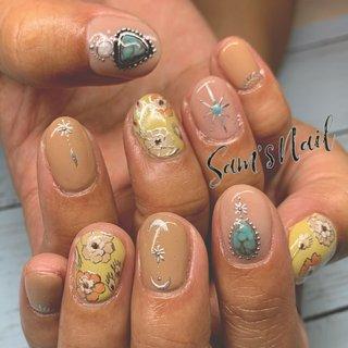 オール手描きのレトロなボヘミアンネイル🌼 . 🌵Sam's Nail🌵 オンライン予約 ネイルブックより受付中 LINE【sam.s_nail】 . . #nail#nailart#gelnail#genic_nail#Bohemian#Bohemiannail#bohonail#instanails#handpainted#豊橋ネイル#豊橋ネイルサロン#豊橋サムズネイル#豊橋#定額サロン#定額ネイル#ネイル#ネイルデザイン#田原#豊川#蒲郡#ネイル好きな人と繋がりたい#ストーンジュエリー#こだわりサロン#天然石ネイル#手描きサロン#大理石ネイル#地層ネイル#美爪ネイル#美爪フォルム#ボヘミアンネイル#レトロネイル #オールシーズン #旅行 #デート #女子会 #ハンド #フラワー #アンティーク #ボヘミアン #大理石 #レトロ #ミディアム #ベージュ #イエロー #ゴールド #ジェル #お客様 #Sam'sNail #ネイルブック