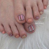 ストライプ  #nail#nails#nailart#gelnails#naildesing#fashion#latrois#ネイル#ジェルネイル#トロワ#西尾ネイル#西尾市ネイルサロン#三河ネイル#ニュアンスネイル#手描きネイル  お問い合わせはこちらからお願い致します📩LINE ▸▸@hax1956a Instagram ▸▸@la.trois_nail #la.trois_nail #ネイルブック