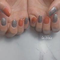 テラコッタ  #nail#nails#nailart#gelnails#naildesing#fashion#latrois#ネイル#ジェルネイル#トロワ#西尾ネイル#西尾市ネイルサロン#三河ネイル#ニュアンスネイル#手描きネイル  お問い合わせはこちらからお願い致します📩LINE ▸▸@hax1956a Instagram ▸▸@la.trois_nail #la.trois_nail #ネイルブック