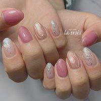 ニュアンスネイル  #nail#nails#nailart#gelnails#naildesing#fashion#latrois#ネイル#ジェルネイル#トロワ#西尾ネイル#西尾市ネイルサロン#三河ネイル#ニュアンスネイル#手描きネイル  お問い合わせはこちらからお願い致します📩LINE ▸▸@hax1956a Instagram ▸▸@la.trois_nail #la.trois_nail #ネイルブック
