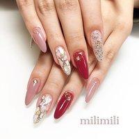 . . こちらはボルドーとくすみピンクのシェルネイル♥ おしゃれに仕上がりました☺︎ . . . #nail#simplenails#onecolornail#shellnails#stonenails#summernails#pinknails#officenails#glitternails#longnails#ネイル#大人ネイル#大人可愛いネイル#上品ネイル#可愛いネイル#ワンカラーネイル#シンプルネイル#シェルネイル#ピンクネイル#ロングネイル#夏ネイル#鹿児島#鹿屋#都城#日南#串間#志布志#志布志ネイル#志布志脱毛#milimili #春 #夏 #海 #リゾート #ハンド #シンプル #ラメ #ワンカラー #ビジュー #シェル #ロング #ピンク #レッド #シルバー #ジェル #milimili #ネイルブック