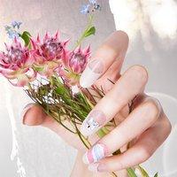 RING BIJOU PUCCI  手元をぱっと明るくしてくれるプッチネイルにビジューでアクセントを。指輪代わりにもなるアクセサリーネイルです。 #春 #夏 #オールシーズン #ハンド #フレンチ #ロング #ベージュ #ピンク #水色 #ジェル #ネイルモデル #thinkresort #ネイルブック